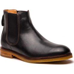 Sztyblety CLARKS - Clarkdale Gobi 261362547 Black Leather. Czarne sztyblety męskie marki Clarks, z materiału. W wyprzedaży za 439,00 zł.