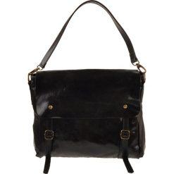 Torebki klasyczne damskie: Skórzana torebka w kolorze czarnym – 35 x 27 x 18 cm