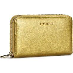 Duży Portfel Damski COCCINELLE - AW1 Metallic Saffiano E2 AW1 11 32 01 Or 038. Czarne portfele damskie marki Coccinelle. W wyprzedaży za 369,00 zł.