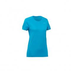 Koszulka turystyczna z krótkim rękawem MH100 damska. Czerwone t-shirty damskie marki QUECHUA, l, z elastanu. Za 14,99 zł.