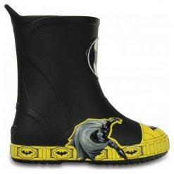 Kalosze chłopięce: Crocs Kalosze Dziecięce Bump It Batman Black  34-35 (j3)