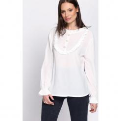 Biała Bluzka Svelte. Białe bluzki asymetryczne Born2be, uniwersalny, z długim rękawem. Za 69,99 zł.