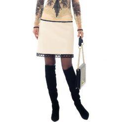 Spódniczki rozkloszowane: Spódnica w kolorze kremowym
