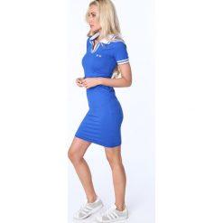 Sukienka polo chabrowa 3810. Niebieskie sukienki marki Fasardi, xl, polo. Za 69,00 zł.