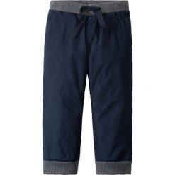 Odzież dziecięca: Spodnie ocieplane na podszewce z dżerseju bonprix ciemnoniebieski + antracytowy melanż