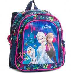 Plecak FROZEN - PL10KL24 Granatowy. Niebieskie plecaki damskie Frozen, z materiału, sportowe. Za 59,99 zł.