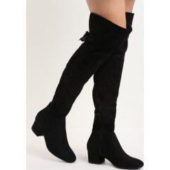 Czarne Kozaki Winter Is Coming. Czarne buty zimowe damskie marki Born2be, za kolano, na płaskiej podeszwie. Za 159,99 zł.