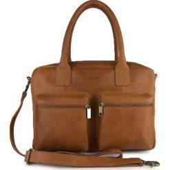 Torebki klasyczne damskie: Skórzana torebka w kolorze brązowym – 37 x 26 x 13 cm