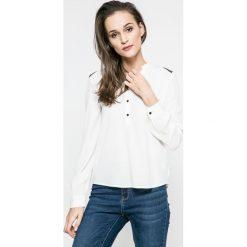 Vero Moda - Bluzka. Szare bluzki asymetryczne Vero Moda, m, z materiału, z krótkim rękawem. W wyprzedaży za 59,90 zł.