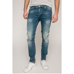 Only & Sons - Jeansy Loom. Niebieskie jeansy męskie slim Only & Sons, z bawełny. W wyprzedaży za 129,90 zł.