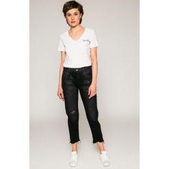 Diesel - Jeansy De-Clairy. Czarne proste jeansy damskie Diesel. W wyprzedaży za 799,90 zł.