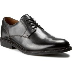 Derby męskie: Półbuty CLARKS - Beckfield Walk 261192637 Black Leather