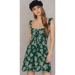 Sukienki hiszpanki: Flynn Skye Sukienka Mini Carla – Green,Multicolor