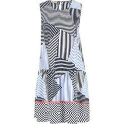 Sukienki hiszpanki: Sukienka w kolorze biało-czarno-błękitnym