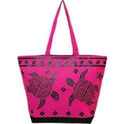 """Torba plażowa """"Bohème"""" w kolorze różowym - 35 x 58 x 23 cm. Czerwone torby plażowe Le Comptoir de la Plage, z tworzywa sztucznego. W wyprzedaży za 38,95 zł."""