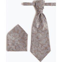Wilvorst - Krawat męski i poszetka, brązowy. Brązowe krawaty męskie Wilvorst, eleganckie. Za 299,95 zł.