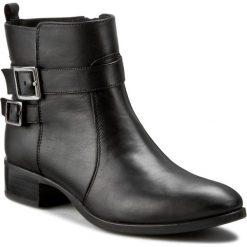 Botki UNISA - Dego Ri Black. Czarne botki damskie skórzane marki Unisa. W wyprzedaży za 399,00 zł.