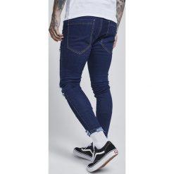 Jeansy męskie regular: SIKSILK JAGGED HEM Jeans Skinny Fit blue