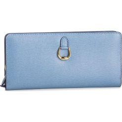 Duży Portfel Damski LAUREN RALPH LAUREN - Bennington 432688520014 Blue. Niebieskie portfele damskie Lauren Ralph Lauren, ze skóry. Za 599,00 zł.