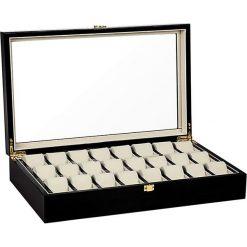 Zegarki męskie: Pudełko w kolorze czarnym na zegarki – 48,1 x 9,9 x 29,5 cm