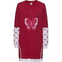 Bluzy damskie: Długa bluza z nadrukiem bonprix jeżynowo-biały z nadrukiem