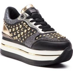 Sneakersy GUESS - FL5HAM ELE12 BLACK. Czarne sneakersy damskie marki Guess, z materiału. Za 739,00 zł.