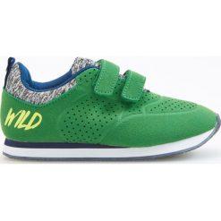 Buty sportowe męskie: Sportowe buty na rzep - Zielony