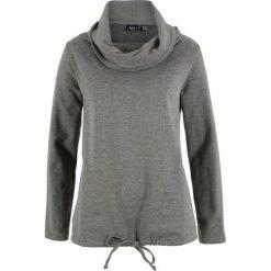 Bluza dresowa bonprix szary melanż. Szare bluzy damskie bonprix, melanż, z dresówki. Za 84,99 zł.