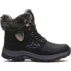 Buty zimowe chłopięce: Czarne Traperki Cabin