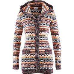 Sweter rozpinany z kapturem bonprix wzorzysty. Szare kardigany damskie marki Mohito, l. Za 99,99 zł.