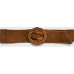 Answear - Pasek Heritage, skórzany. Brązowe paski damskie ANSWEAR, w paski, z materiału. W wyprzedaży za 48,90 zł.
