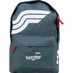 """Plecak """"Washington"""" w kolorze szarym - 29 x 40 x 10 cm. Szare plecaki męskie Walizki dla Ciebie, w paski. W wyprzedaży za 43,95 zł."""