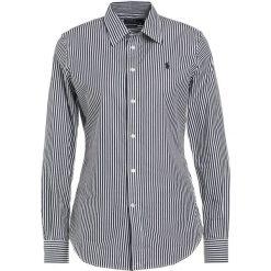 Polo Ralph Lauren STRETCH SLIM FIT Koszula black/white. Czarne koszulki polo damskie Polo Ralph Lauren, z bawełny, polo. Za 459,00 zł.
