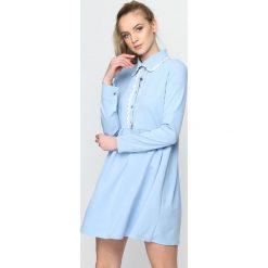 Niebieska Sukienka Holiday. Niebieskie sukienki mini marki Born2be, s. Za 49,99 zł.