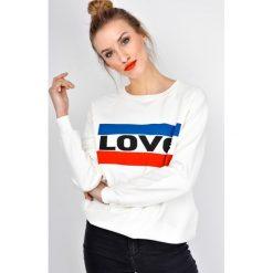 Bluzy rozpinane damskie: Bluza oversize z nadrukiem LOVE