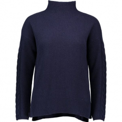 Sweter w kolorze granatowym. Niebieskie golfy damskie Gottardi, s, z bawełny. W wyprzedaży za 217,95 zł.