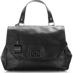 Torebka damska 86-4E-005-1. Czarne torebki klasyczne damskie Wittchen, w paski. Za 499,00 zł.