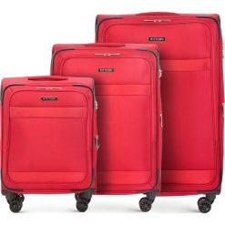 Zestaw walizek 56-3S-58S-30. Czerwone walizki marki Wittchen. Za 1066,71 zł.