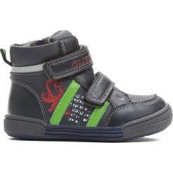 Granatowo-Zielone Buty Sportowe On The Road. Niebieskie buty sportowe chłopięce Born2be, z materiału, z okrągłym noskiem, na zamek. Za 69,99 zł.