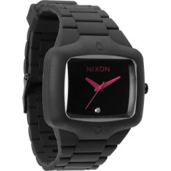 Zegarki damskie: Zegarek unisex All Black Pink Nixon Rubber Player A1391871