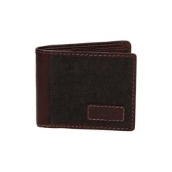 Portfele męskie: Skórzany portfel w kolorze brązowym – (S)10,5 x (W)8,5 cm