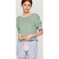 Piżamy damskie: Dwuczęściowa piżama – Zielony