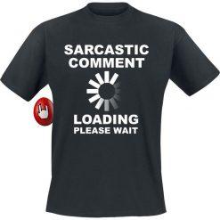 Sarcastic Comment T-Shirt czarny. Czarne t-shirty męskie z nadrukiem Sarcastic Comment, xl, z okrągłym kołnierzem. Za 54,90 zł.