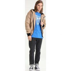 T-shirty męskie z nadrukiem: Knowledge Cotton Apparel DIAGRAM OWL  Tshirt z nadrukiem strong blue