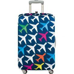 Pokrowiec na walizkę LOQI Airport Airplane. Niebieskie walizki LOQI, z elastanu. Za 114,00 zł.