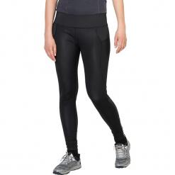 """Legginsy funkcyjne """"Gravity Flex"""" w kolorze czarnym. Czarne legginsy marki Jack Wolfskin, w paski, z materiału. W wyprzedaży za 304,95 zł."""