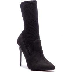 Kozaki KAZAR - Kiera 34028-TS-00 Black. Czarne buty zimowe damskie marki Kazar, z materiału, na wysokim obcasie, na obcasie. Za 499,00 zł.