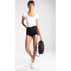 Bermudy damskie: Hollister Co. Szorty jeansowe black denim