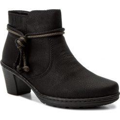 Botki RIEKER - 54950-00 Black. Czarne buty zimowe damskie marki Rieker, z materiału. W wyprzedaży za 179,00 zł.