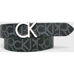 Calvin Klein - Pasek. Szare paski damskie marki Calvin Klein, w paski, z materiału. Za 229,90 zł.